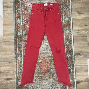 Cotton On Red Skinny Jeans USA 2